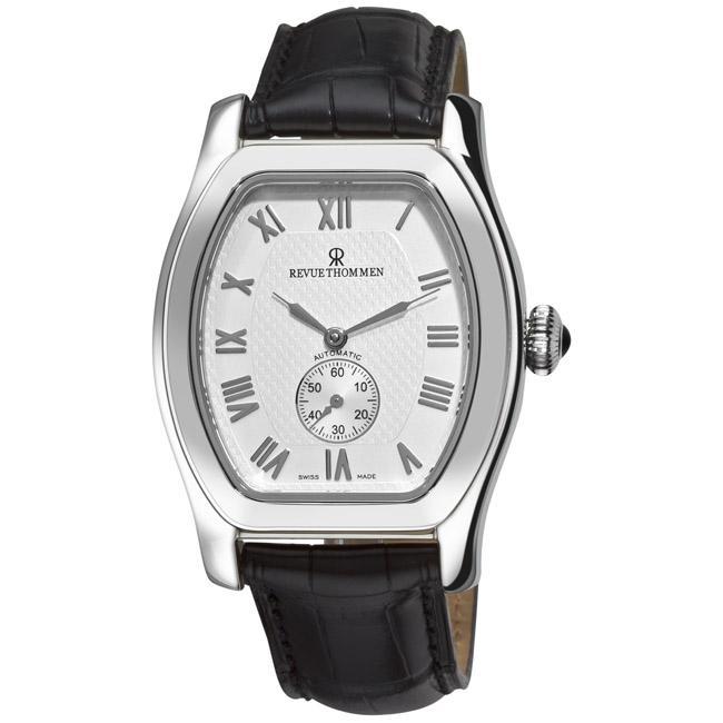 Revue Thommen Men's 12016.2532 'Tonneau' Silver Face Automatic Watch