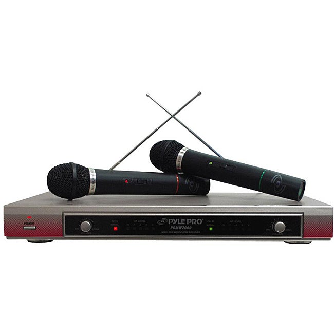PylePro Dual VHF Wireless Microphone System (Refurbished)