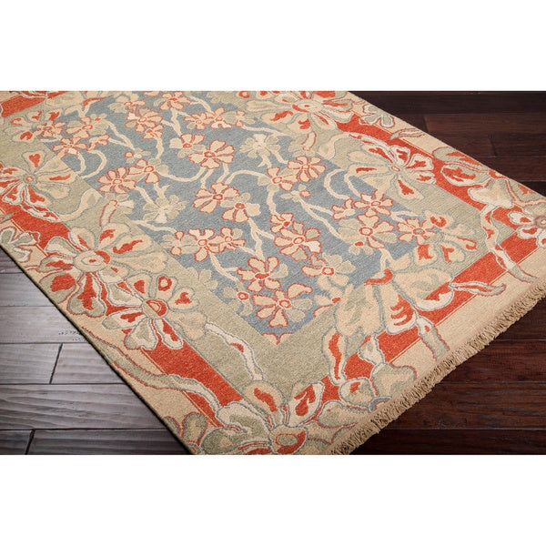 Hand-knotted Vincent Wool Rug (4' x 6')
