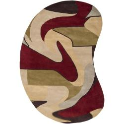 Hand-tufted Ray Wool Rug (8' x 10' Kidney)