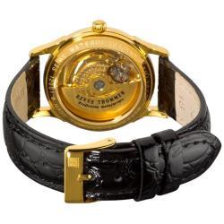 Revue Thommen Women's 'Open Heart' Gold Plated Skeleton Watch