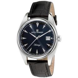 Revue Thommen Men's 21010.2537 'Heritage' Black Leather Strap Automatic Watch