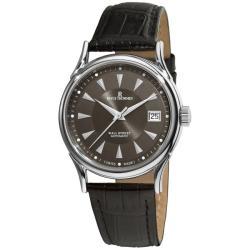 Revue Thommen Men's 20002.2534 'Wallstreet' Dark Grey Face Leather Strap Watch