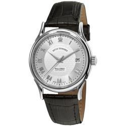 Revue Thommen Men's 20002.2532 'Wallstreet' Black Leather Strap Automatic Watch