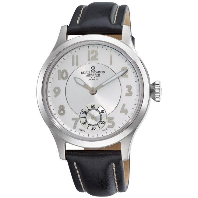 Revue Thommen Men's 'Air speed' Silver Face Mechanical Watch