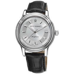 Revue Thommen Men's 12200.2538 'Classic' Black Leather Strap Automatic Watch