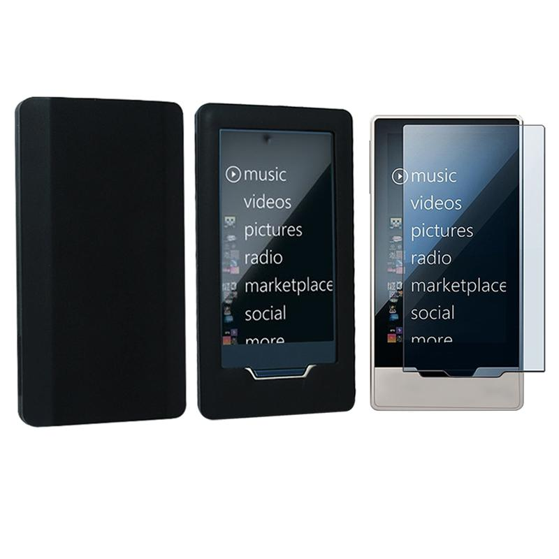 INSTEN Soft Silicone Phone Case Cover/ Screen Protector for Microsoft Zune HD