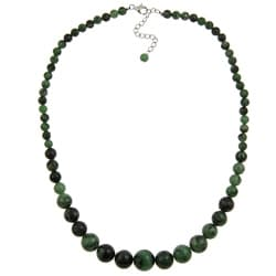 Pearlz Ocean Ruby Zoisite 17-inch Journey Necklace