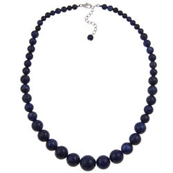 Pearlz Ocean Sterling Silver Lapis Lazuli Journey Necklace