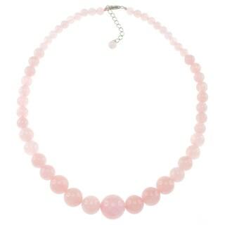 Pearlz Ocean Rose Quartz Journey Necklace