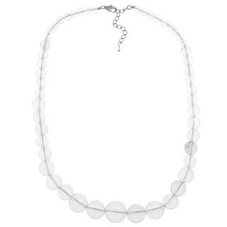 Pearlz Ocean White Quartz 17-inch Journey Necklace