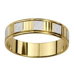 14k Two-tone Gold Women's Watch Band Easy Fit Wedding Band
