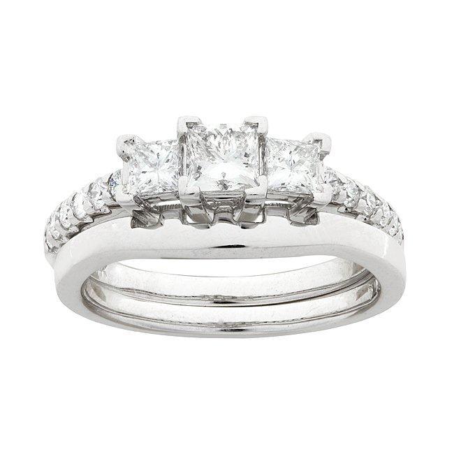 14k White Gold 1ct TDW Diamond Bridal Ring Set (G-H, SI1-SI2)