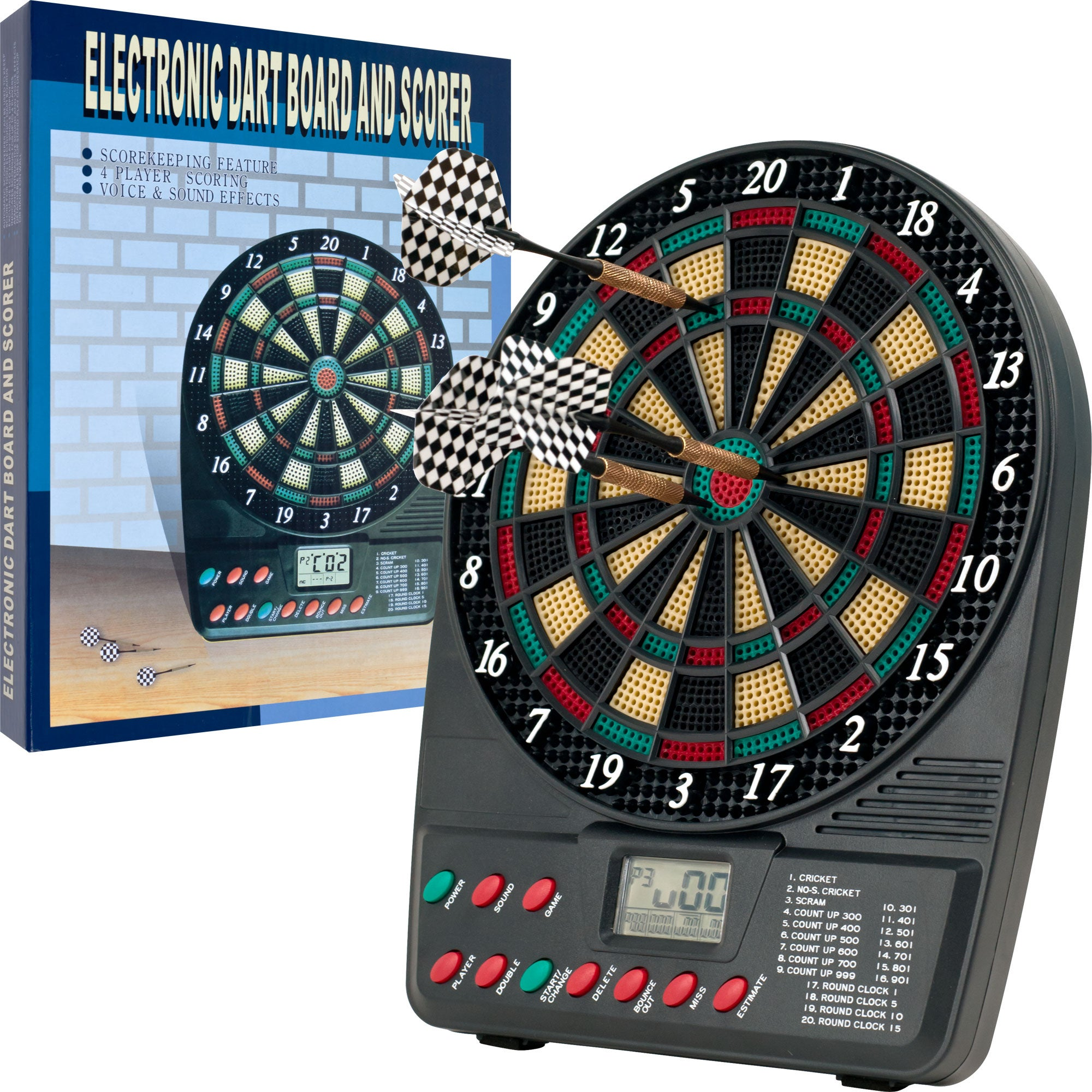 TG Electronic Auto Scorekeeper Mini Dart Set with 20 Game Modes