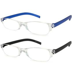 Urban Eyes Lucite Readers Darks Women's Reading Glasses (Pack of 2)