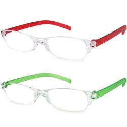 Urban Eyes Lucite Readers Brights Women's Reading Glasses (Pack of 2)