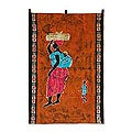Cotton 'A Good Wife' Batik Wall Hanging (Ghana)