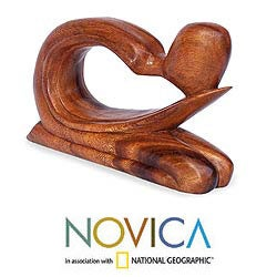 Suar Wood 'Abstract Genuflect' Sculpture (Indonesia)