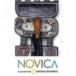 Sese Wood 'Earth Goddess Spirits' Africa Mask (Ghana)