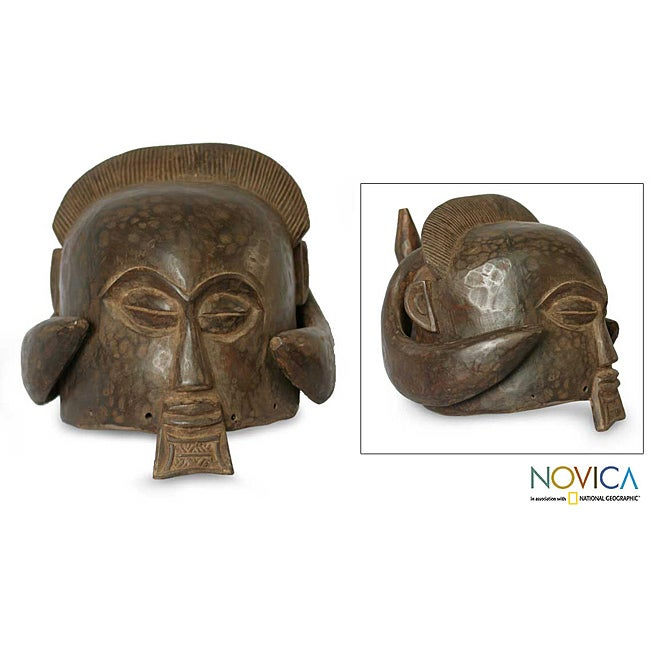 Sese Wood 'Good Luck' Africa Mask (Ghana)