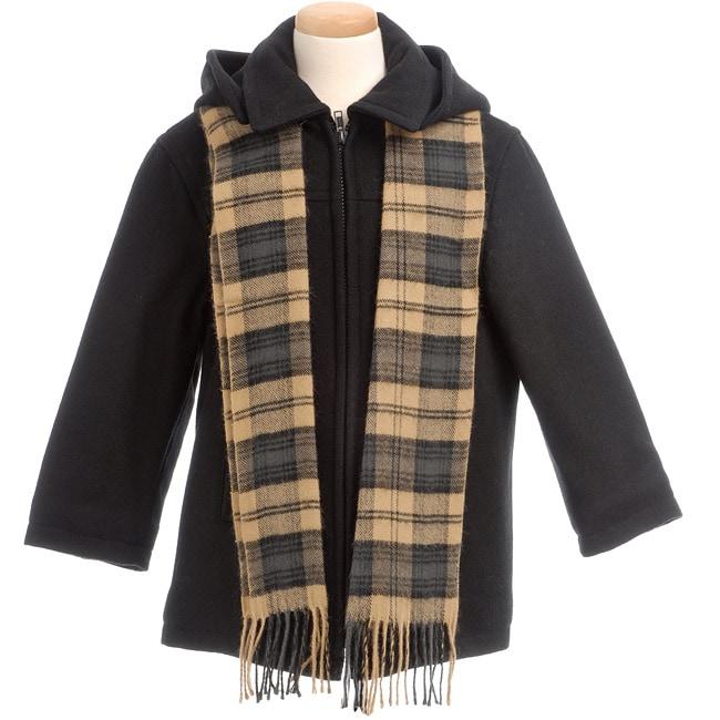 Brian Mathews Toddler Boy's Coat and Scarf Set