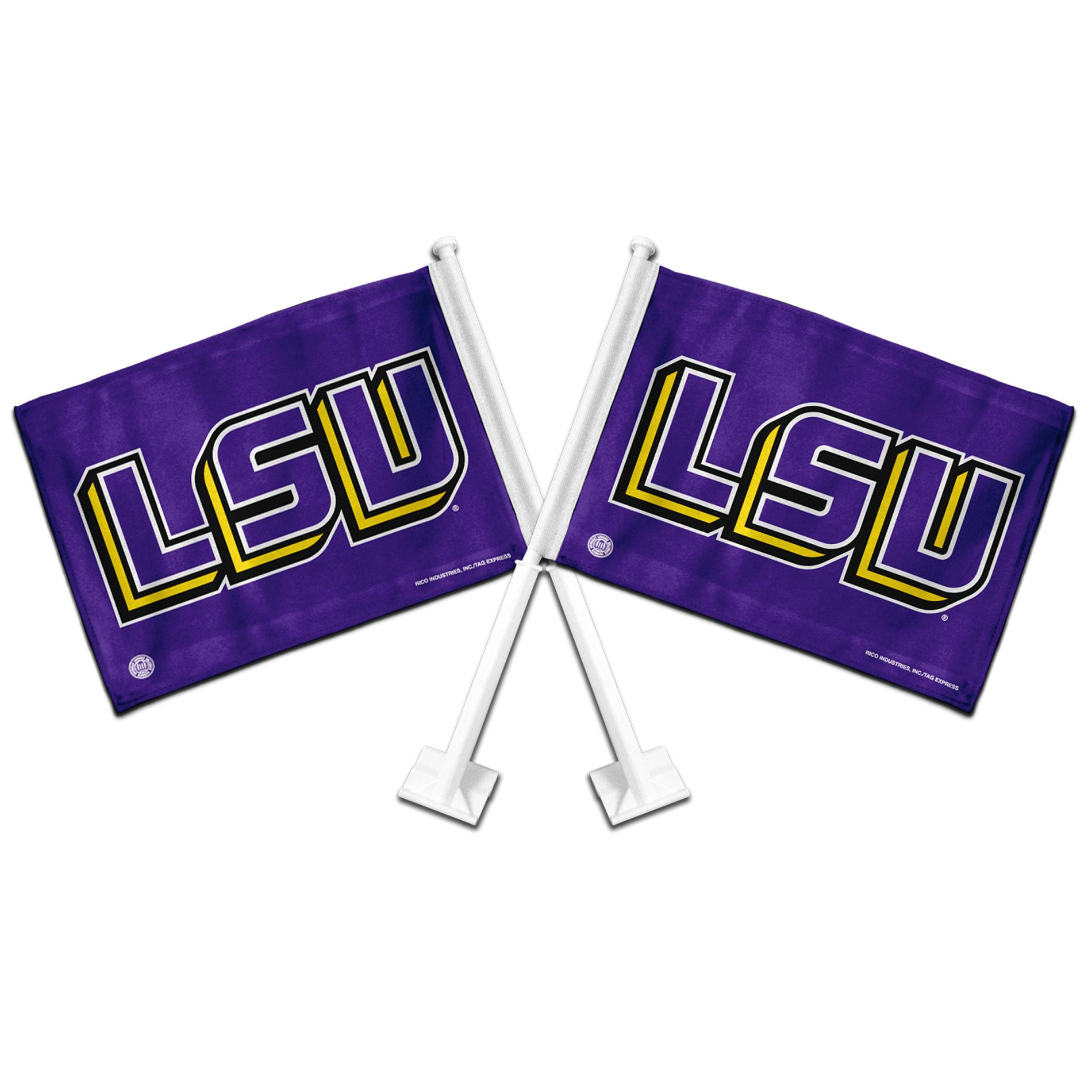 LSU Tigers Car Flags (Set of 2)
