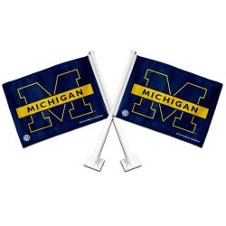 Michigan Wolverines Car Flags (Set of 2)