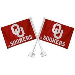 Oklahoma Sooners Car Flags (Set of 2)