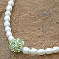 Pearl 'Mystic Sea Treasure' Peridot Necklace (4-4.5 mm) (Thailand)