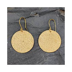 Gold Vermeil 'Summer Sun' Dangle Earrings (India)
