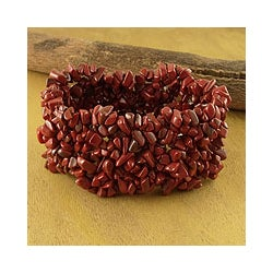 Jasper 'Fire' Stretch Bracelet (India)