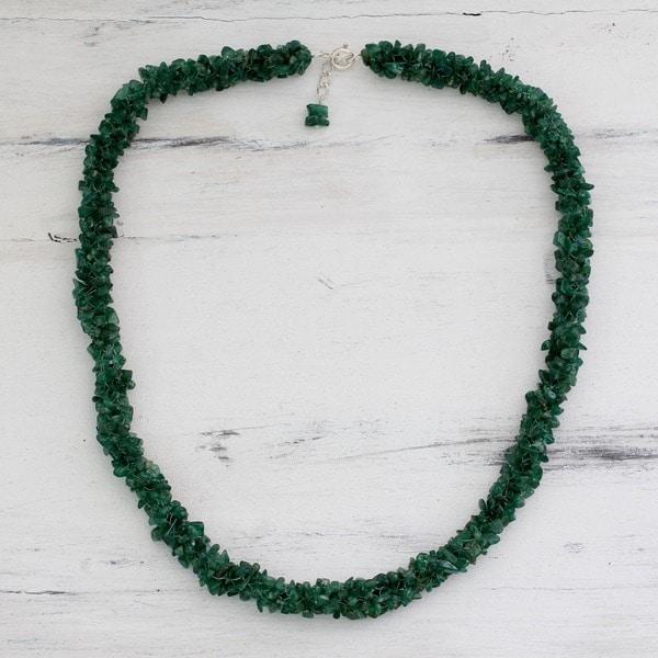 Aventurine 'In Ivy' Beaded Necklace (India)