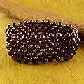 Garnet 'Mystical Muse' Stretch Bracelet (India)
