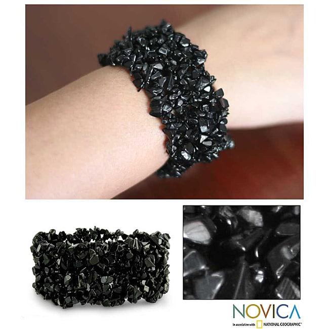 Onyx 'Eternal Night' Stretch Bracelet (India)