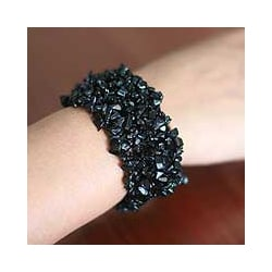 Onyx 'Eternal Night' Stretch Bracelet (India)