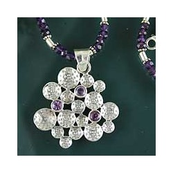 Sterling Silver 'Lilac Joy' Amethyst Necklace (India)