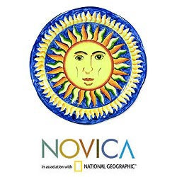 Handcrafted Ceramic 'Sun of El Salvador' Serving Plate (El Salvador)