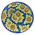 Handcrafted Ceramic 'Sunflowers' Serving Plate (El Salvador)
