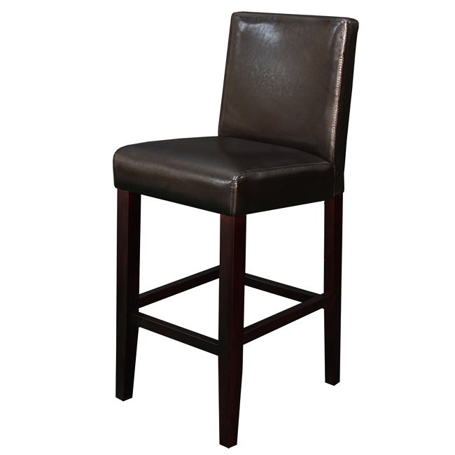 faux leather brown counter stool set of 2 dining room bar modern kitchen chair ebay. Black Bedroom Furniture Sets. Home Design Ideas
