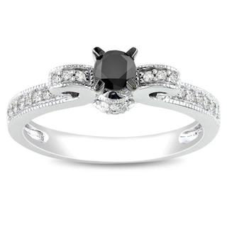 Miadora 10k Gold 1/2ct TDW Black and White Diamond Ring (G-H, I2)