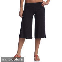Tabeez Women's Wide-leg Capri Pants