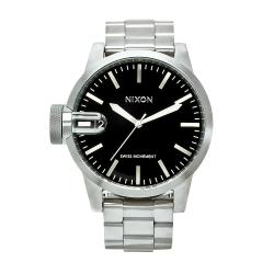 Nixon Men's Black/Silver Chronicle Watch