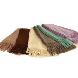 Cashmere Showroom Mongolian Cashmere-and-wool Waterwave Brush Signature Throw