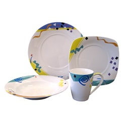Red Vanilla Hip Hop 16-piece Dinnerware Set