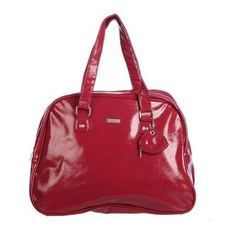 Ellen Tracy Red Metallic Carry-On Tote