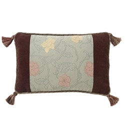 Corona Decor European-woven Floating Flowers Jaquard Pillow