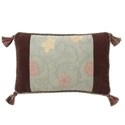 Corona Decor European-woven Floating Flowers Jaquard Pillow
