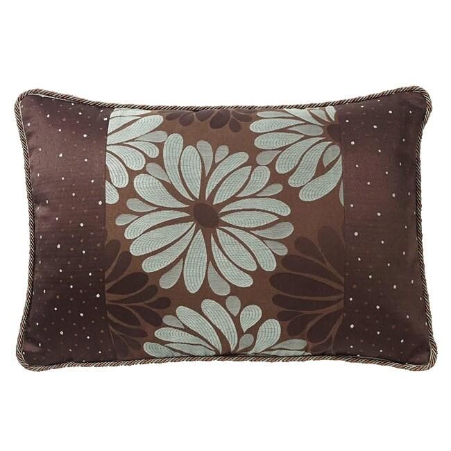 Corona Decor European-woven Daisies and Dots Pillow