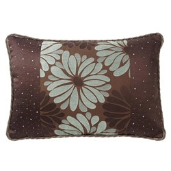 Corona Decor European-woven Daisies and Dots Pillow