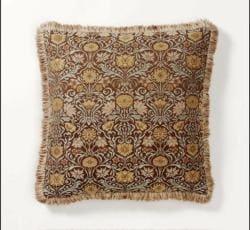 Corona Decor European-woven Vintage Floral Brocade Pillow